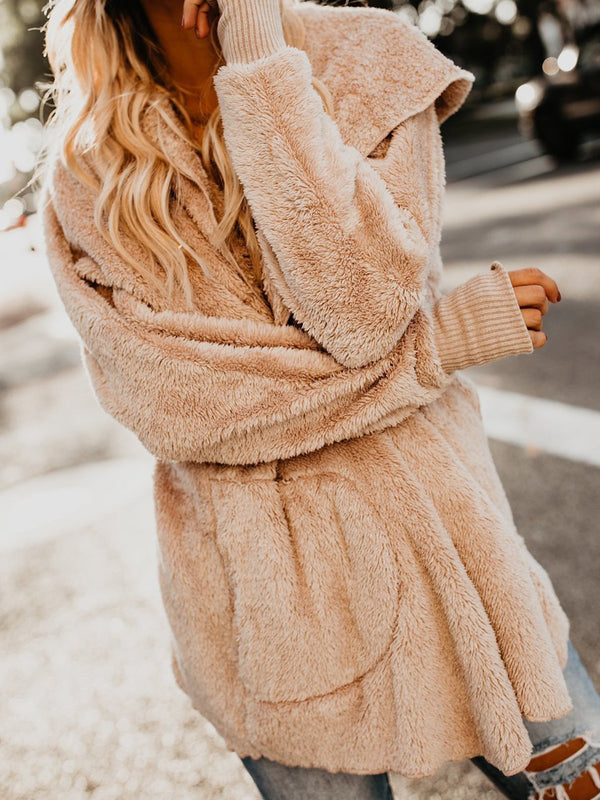 Women Casual Cashmere Teddy Bear Coats