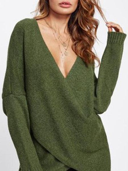 Casual Knitted Women's Sweater