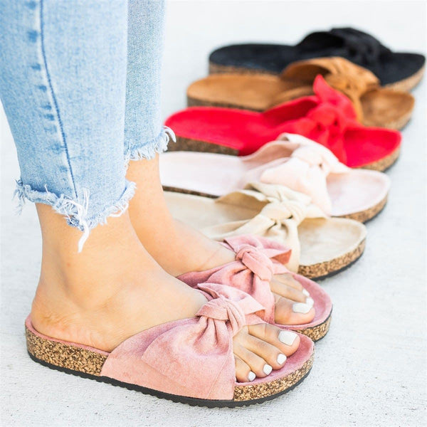 Chic Bow Sandal Slides Comfy Sandals Slippers