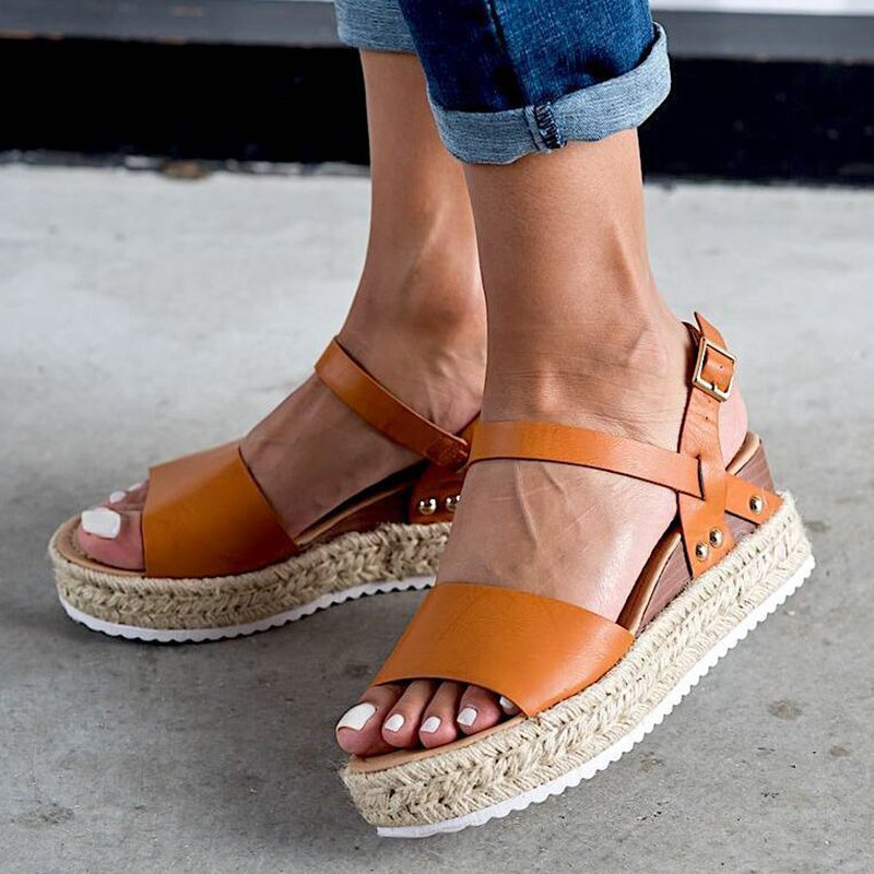 Summer Casual Espadrille Sandals Wedges Shoes
