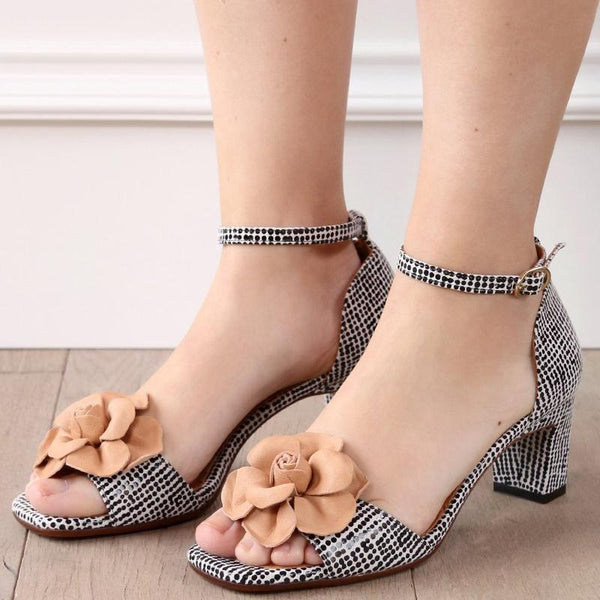 Women Fashion Pumps Shoes Buckle Elegant Sandals