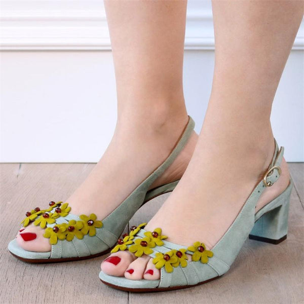 Women Buckle PU Sandals Elegant Soft Suede Shoes