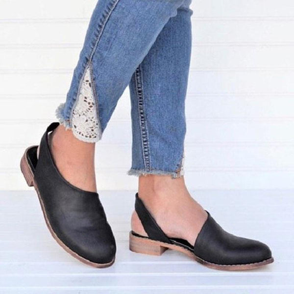 Cut out Flat Heel Casual Loafers