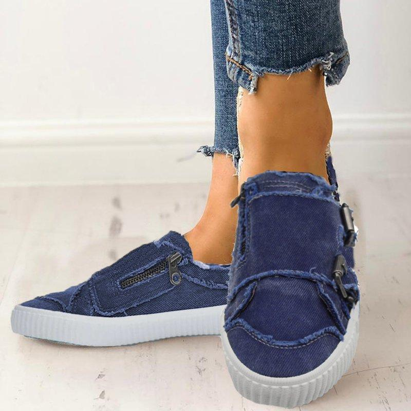 Women Casual Comfy Sneakers Slip-on Loafers for Spring / Autumn