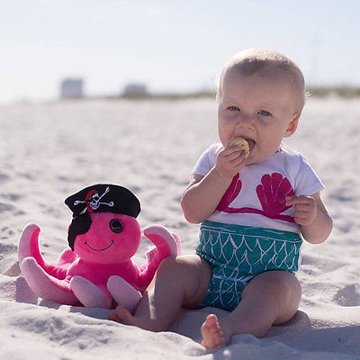 Newborn Kid Baby Infant Boy Girl Mermaid  Romper Jumpsuit Outfit Clothes Bbay Romper