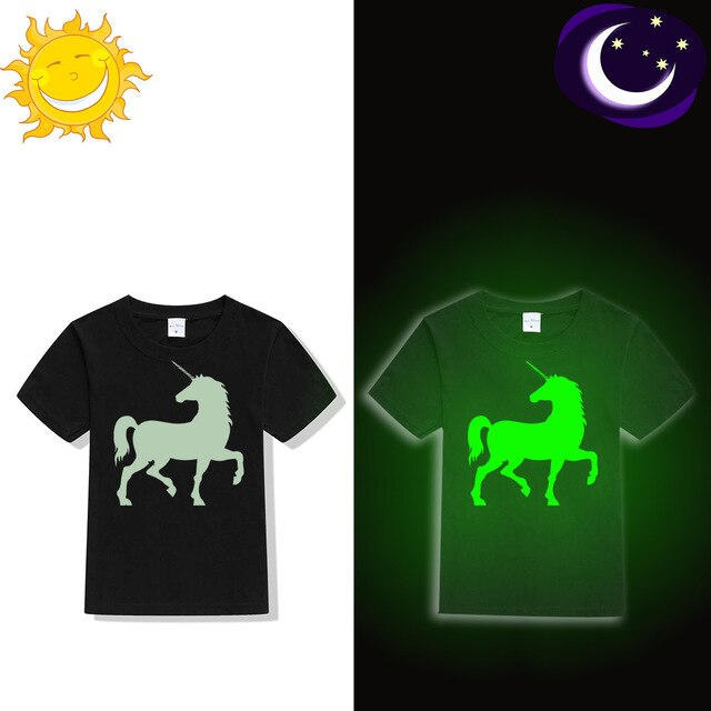 "Unicorn ""Glow In Dark"" Kids T-shirt"