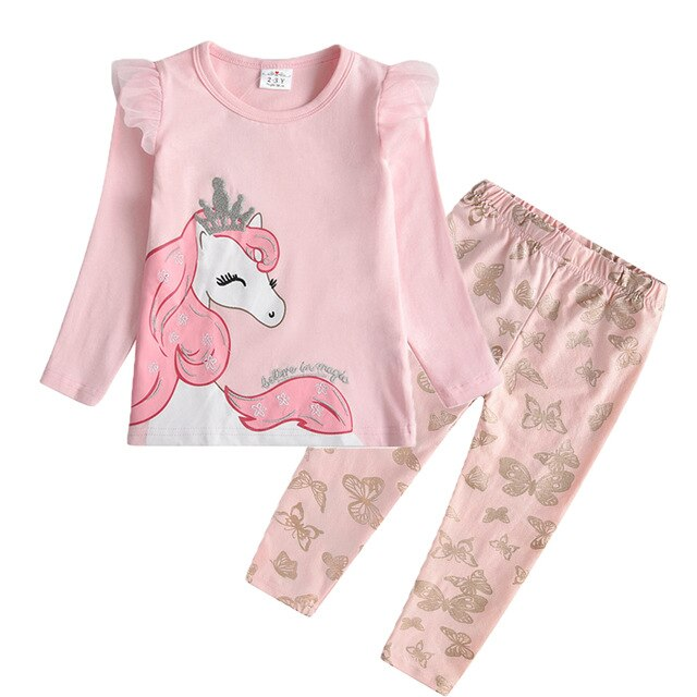 """Too Sweet"" Girls Sets 2pcs 3-8Y Unicorn"