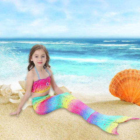 Kids Mermaid Swimsuit Bikini Girls Mermaid Tail Clothing Swimwear for Swimming Costume Mermaid Tail Cosplay Girls Swimwear Sets
