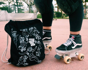 Roller Skating Drawstring Bag SKATE EVERY DAMN DAY