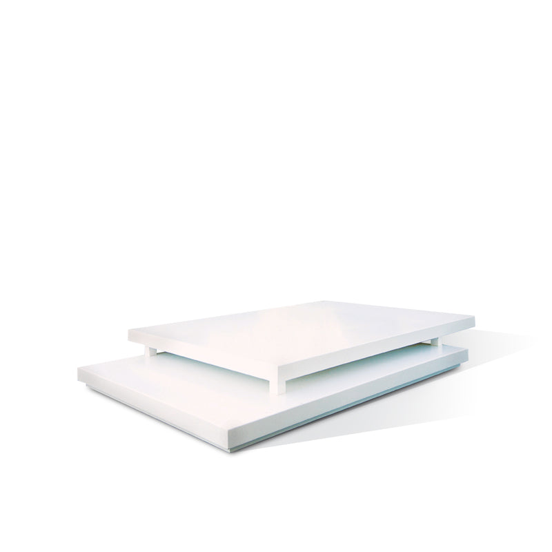SUNLINE RECTANGULAR COFFEE TABLE - 1800mm x 1200mm x 200mm (White)