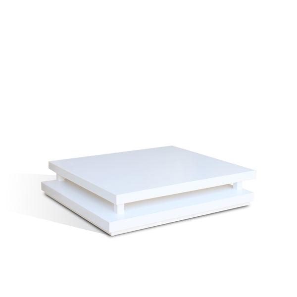 SUNLINE SQUARE COFFEE TABLE - 1200x1200x200 (White)