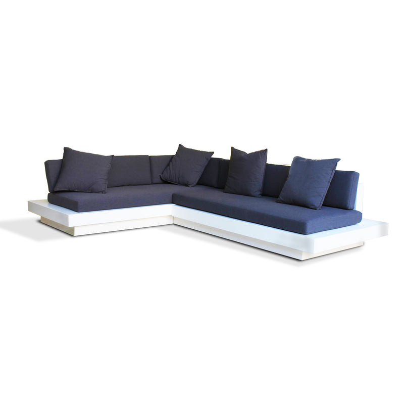 "SUNLINE ""L"" SHAPE SOFA - 2700mm x 1800mm x 600mm (White)"