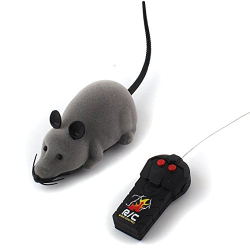 Forum Novelties Rat Toy, Peachfye RC Funny Wireless Electronic Remote Control Mouse R Toy Toy for Cats Dogs Pets Kids Gift