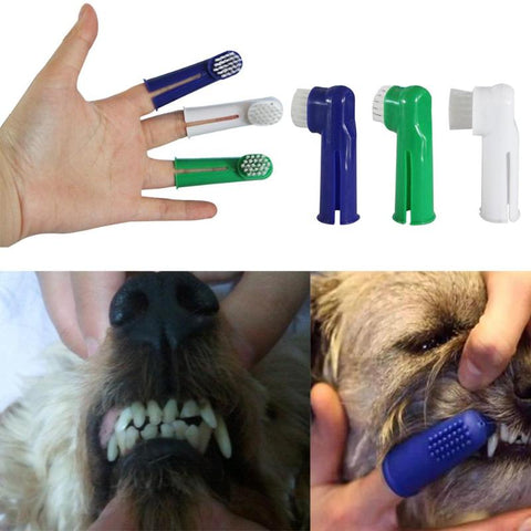 Pet Finger Toothbrush For Dog Cat