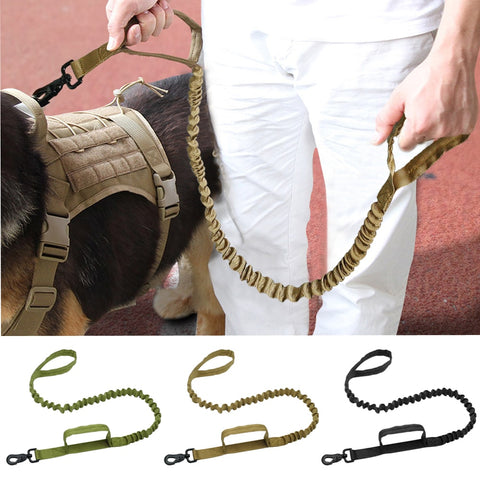 No-pull Army Tactical Dog Leash Nylon Bungee Dogs Military Lead Belt