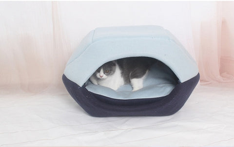Dual use house kennel dog house cat litters dog bed Warm sleeping bag pet nest