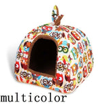 Comwarm Fashion Soft Winter Owl Heart Pattern Dog House