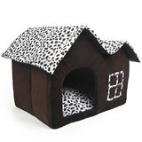 Cotton Plus Size Dog House Folding Bed With Mat
