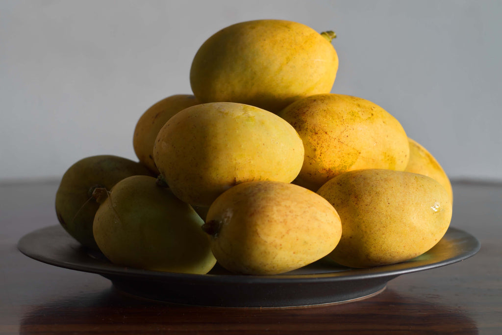 bowl of mangoes