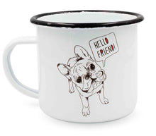 "Laden Sie das Bild in den Galerie-Viewer, heyholi® Enamel Cup ""Frenchie Friend"""