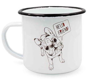 "heyholi® Enamel Cup ""Frenchie Friend"""
