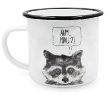 "Laden Sie das Bild in den Galerie-Viewer, heyholi® Enamel Cup ""Sneaky Raccoon"""