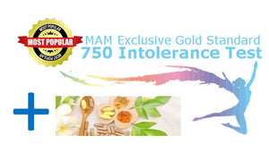 MAM Exclusive Gold Standard 750 Intolerance Test + Supplement Report