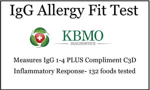 IgG Food Allergy Blood Spot Test (132 items tested)