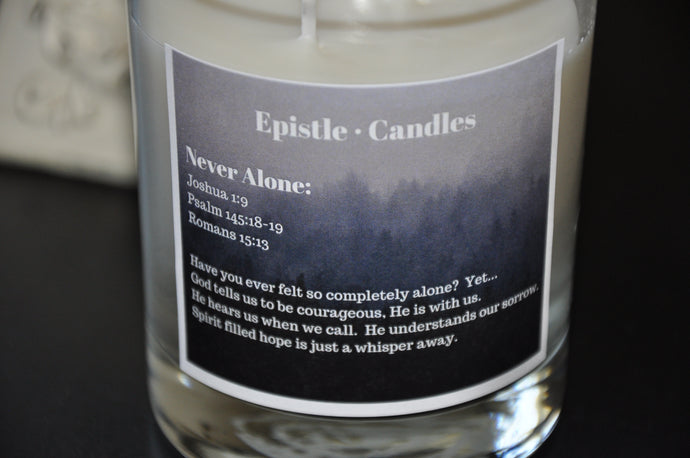 Never Alone 9 oz candle