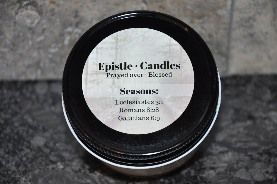 Seasons 3 oz candle