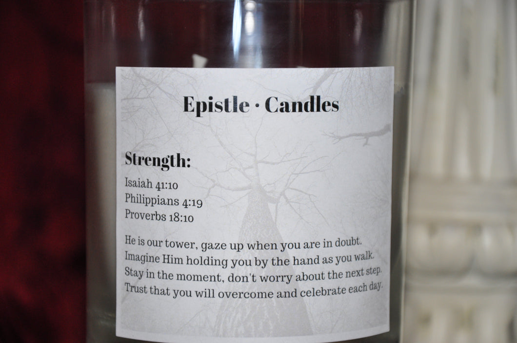 Strength 9 oz candle