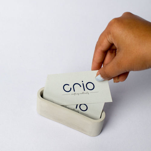 Concrete Card Holder Circular - thecrio