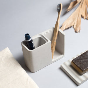 Concrete Bathroom Organiser - Crio