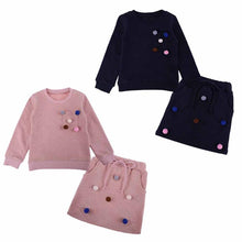 Load image into Gallery viewer, girls winter clothing set long sleeve shirt