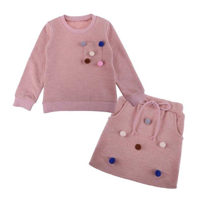 girls winter clothing set long sleeve shirt