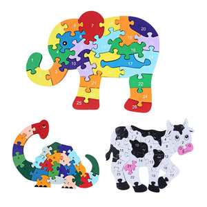 Wooden 3D Jigsaw Educational Toys