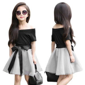 Sleeve Top and Pants Skirt Casual style