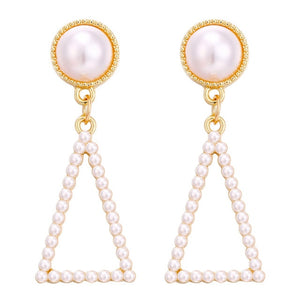 Jewelry Simulated Pearl Long Earrings