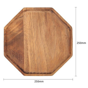 Acacia Wood Plate Dishes Rectangle