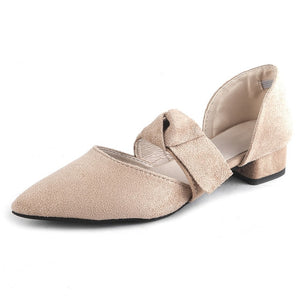 Solid Pointed Toe Ladies Party Shoes
