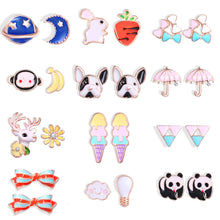 Load image into Gallery viewer, 12 Animal Stud Earrings