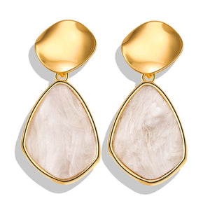 Fashion Gold Color Round Drop Earrings
