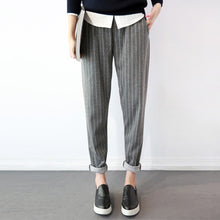 Load image into Gallery viewer, Women Cotton Linen Long Pencil Pants