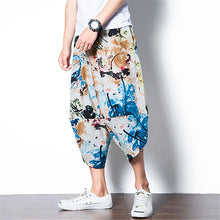 Load image into Gallery viewer, Ethnic  Floral Men Cross-pants
