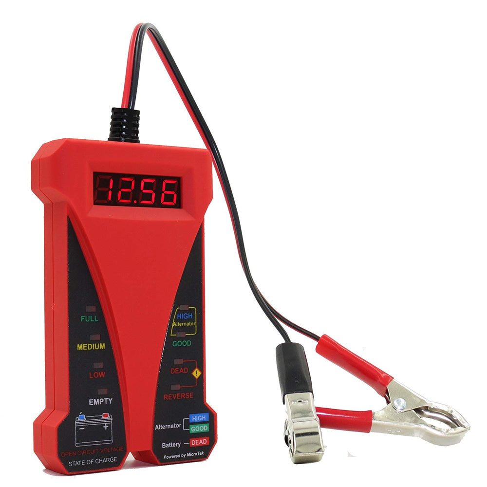 MP0514C 12V Digital Battery Tester-Red