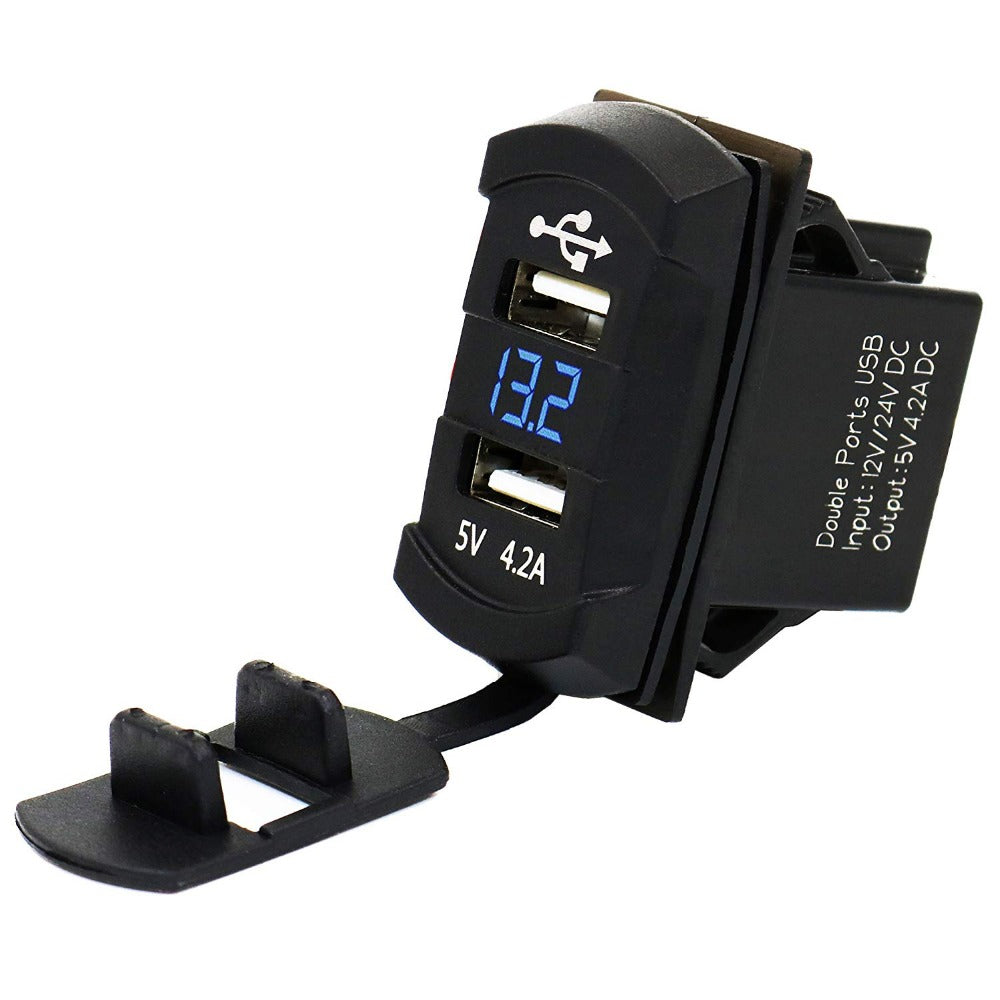 MP0612A  4.2Amp Dual USB Charger With LED Display