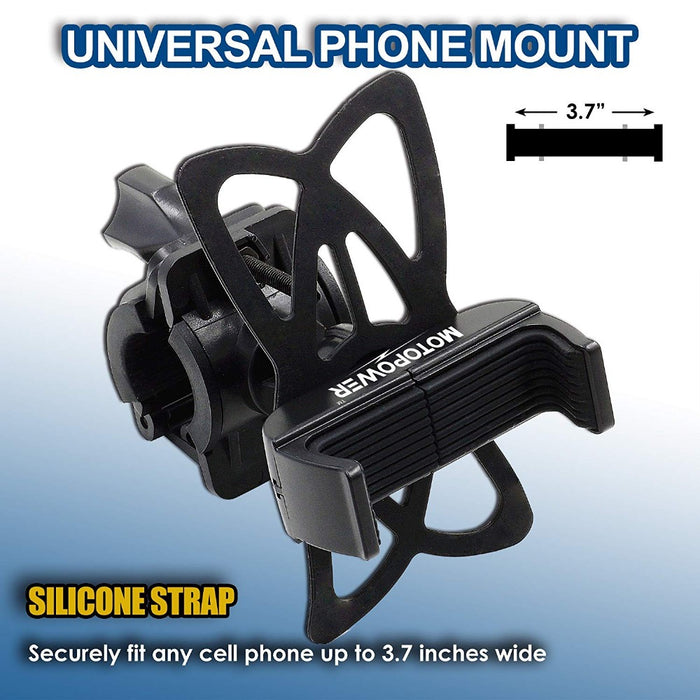 MP0616A Universal Motorcycle Phone Mount -BLACK