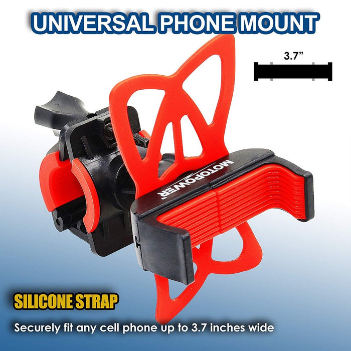 MP0616B Universal Motorcycle Phone Mount -RED