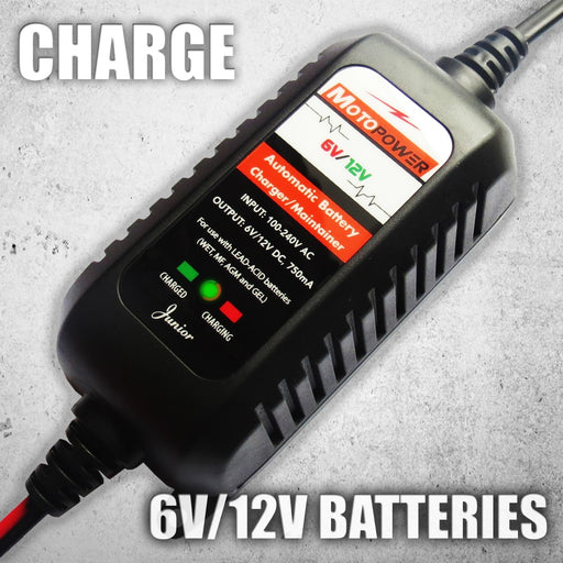 MP00205 6V/12V 750mA Automatic Battery Charger