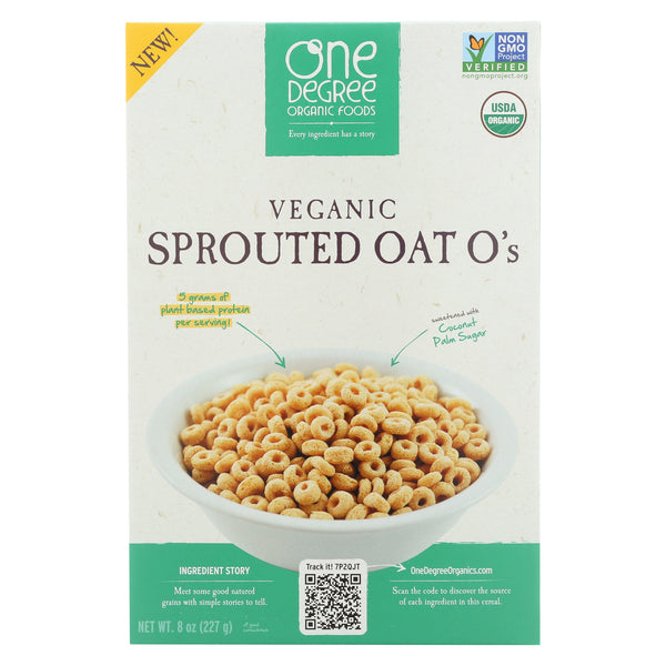 One Degree Organic Foods Sprouted Oat O's - Veganic - Case Of 6 - 8 Oz.